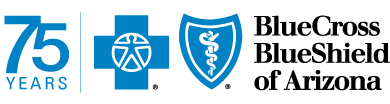 BCBSAZ 75th Birthday Logo